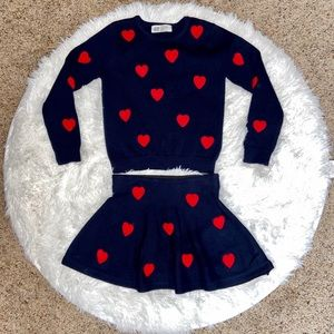 Like new H&M Baby Girl Heart Sweater/Skirt set!